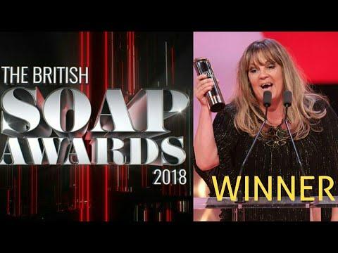 EastEnders TBSA 2018 - Lorraine Stanley Wins Best Newcomer Award