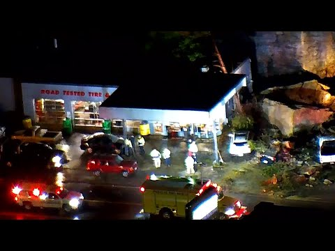 Rain Causes Rock Slide In Pikeville, Kentucky
