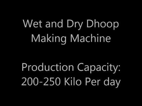 Wet and Dry and Sambrani stickless Dhoop Making Machine