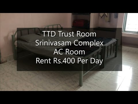 Ep.2 Srinivasam Complex I Tirupati Trust I AC Room @Rs.400 Per Day I Tirupati I Andhra Pradesh