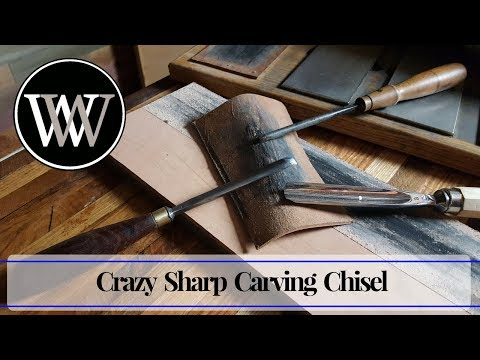 How to Sharpen a Gouge Carving Chisel Hand Tool Woodworking Skill