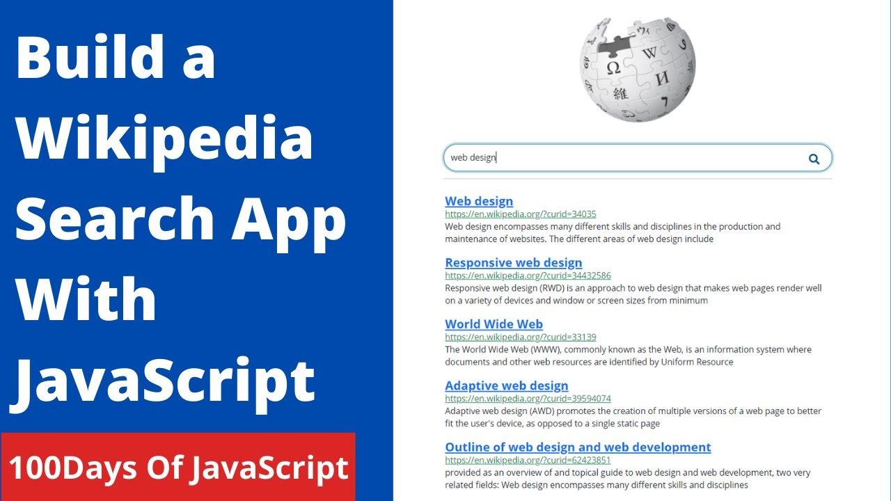 How To Build A Wikipedia Search App With Javascript