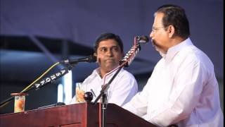 Pastor  Dr. T. Valson Abraham speaking at the 90th Kumbanad Convention