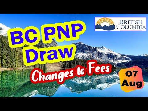 British Columbia PNP Nomination | BCPNP Draw - 7 August 2020