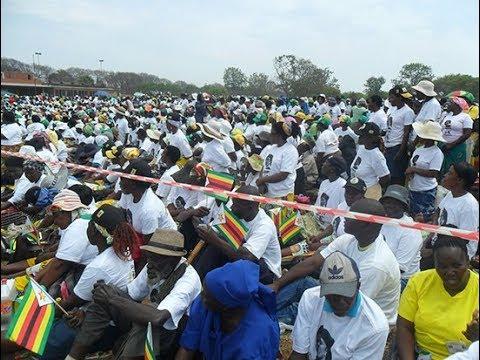 Mnangagwa can form his own Party says President Mugabe @ Bulawayo Rally