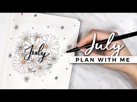 PLAN WITH ME | July 2017 Bullet Journal Setup