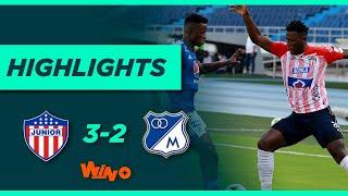 Junior vs. Millonarios (Goles y highlights)   Liga BetPlay Dimayor 2021-1 - Semifinal - Ida