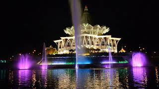 Kuching Waterfront Musical Fountain - Officially launched ! 141018 Pt.02