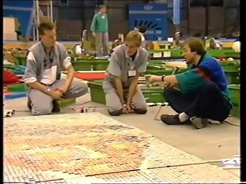 Voorbereiding Domino KLM Worldrecord 1986 - DE EERSTE DE BESTE