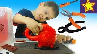 Игрушки. Набор инструментов для детей Пилим лобзиком Kids set toys video