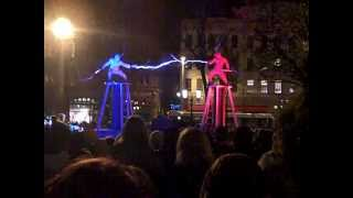 Two men + two Tesla coils + special suits = ELECTRICITY FIGHT! thumbnail