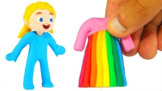 LITTLE PRINCESS NEW RAINBOW DRESS ❤ SUPERHERO BABIES PLAY DOH CARTOONS FOR KIDS