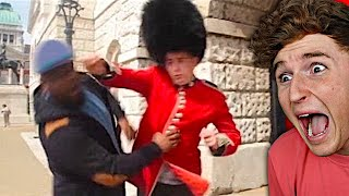 he tried to mess with the royal guards..