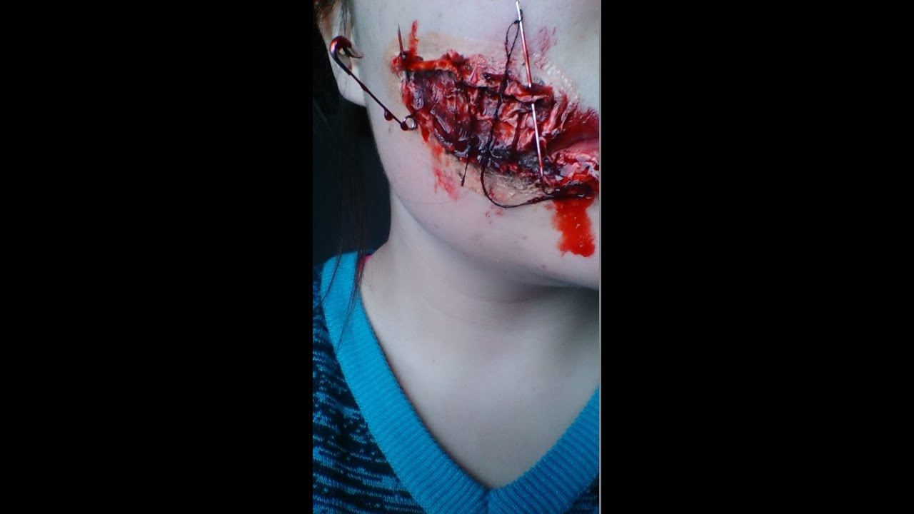 Maquillage effet sp ciale bouche cousue youtube - Maquillage halloween bouche ...