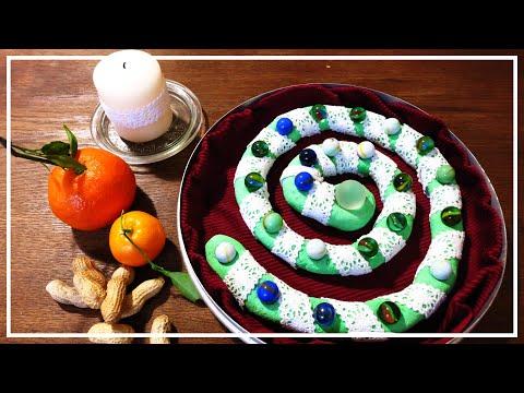 adventsspirale-|-weihnachtsspirale-|-salzteig-weihnachtsdeko-|-alternativer-adventskalender