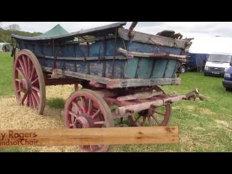 The Wheelwrights Craft - Woodwork and Blacksmithing on old wagon.