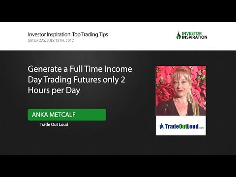 Generate a Full Time Income Day Trading Futures Only 2 Hours/Day | Anka Metcalf