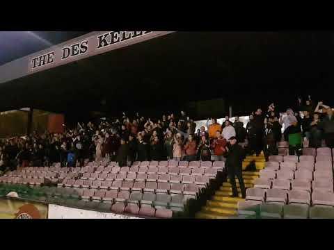 Cork City Fans at Dalymount Park 20/4/2018 Bohs Vs Cork City