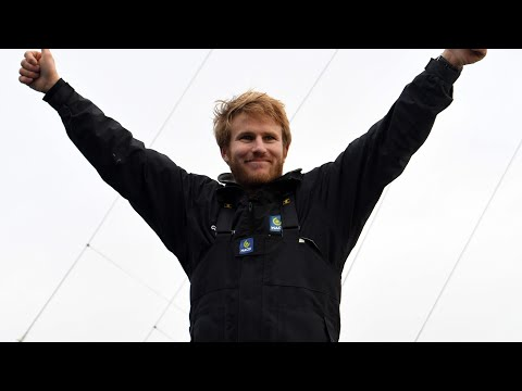 French sailor arrives home after setting new round-the-world record