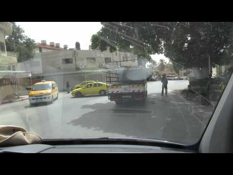 Jericho (Palestinian Authority) - driving on the main street towards Jerusalem
