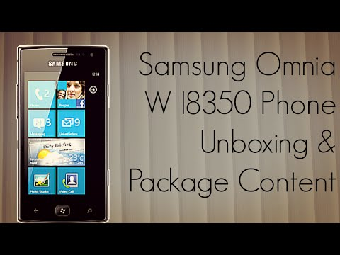 Samsung Omnia W I8350 Phone Unboxing & WP7 Package Content - PhoneRadar
