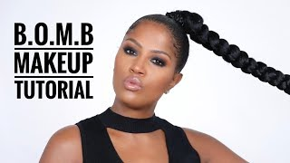 B.O.M.B | Black Owned Makeup Brands Tutorial | MakeupShayla