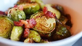 Roasted Brussel Sprouts With Bacon, Brussels Sprouts With Bacon Recipe, Roast Brussels Sprouts