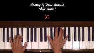 Skating by Vince Guaraldi Piano Tutorial SLOW v.1