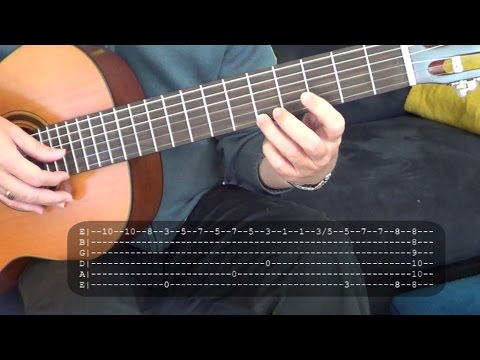 Doon Lang by Nonoy Zuniga Fingerstyle Guitar Tutorial Cover w/ Tabs ...