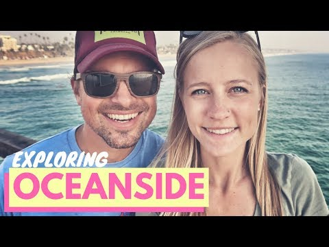Exploring Oceanside, California 🏝🌊 The Strand, Oceanside Pier & Veggie Grill 😍👍RV Life Full Time