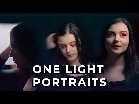 PORTRAIT PHOTOGRAPHY WITH A ONE LIGHT SETUP | Photography Tutorial thumbnail