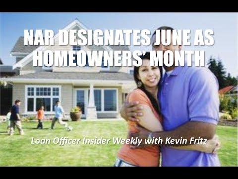 N.A.R. Designates June as Homeownership Month