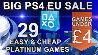 PS4 Playstation Sale (EU) | Games under £4/€5 | 29 Easy & Cheap Platinum Games | Until 28/06/2018