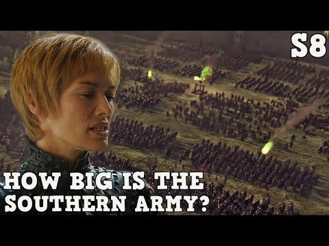 How Big is the Southern Army? | Cersei and Euron's Forces | Game of Thrones Season 8
