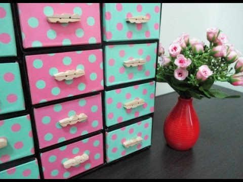 DIY : #103 Organizer From RECYCLED Drink Cartons ♥