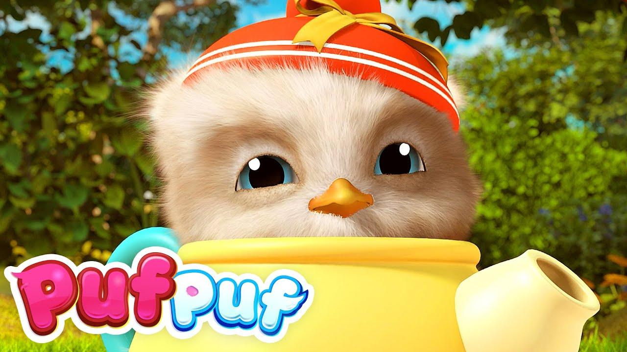 """Jocul """"Micuțul Ceainic"""" - Cântece cu joc și dans pentru copii Puf Puf"""
