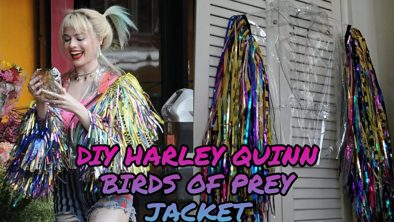 How I Made My Harley Quinn Birds Of Prey Confetti Jacket Youtube