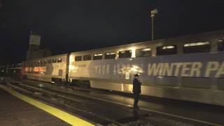 2017-04-15 Amtrak 7 at Red Wing in Rainstorm