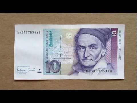 10 Deutsche Mark Banknote (Ten Deutsche Mark / 1993), Obverse and Reverse