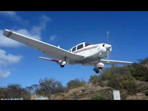 St. Barts Airport Landings - Close Up and Scary!