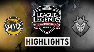SPY vs. G2 - EU LCS Week 9 Day 2 Match Highlights (Spring 2018)