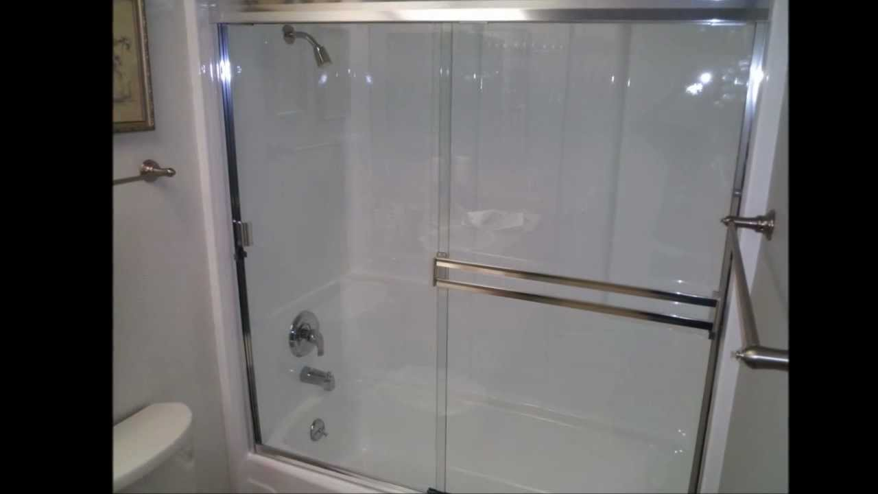 fiberglass shower tub enclosures. Julian s Porcelain  Fiberglass Co Tub Refinish and Enclosure Installation YouTube