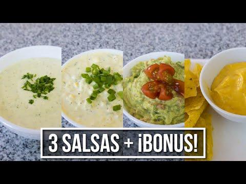 3 Salsas + BONUS! - Para reuniones, películas o lo que quieras   Estilo Marilin