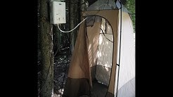 Camp Shower with Unlimited HOT Water