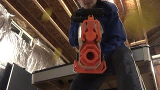 Shooting the crap out of my phone with the Nerf R VAL Prometheus