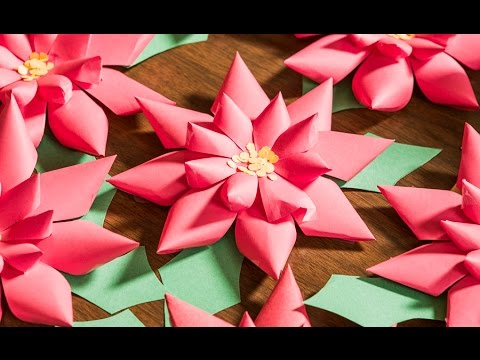 Quick n crafty do it yourself paper poinsettias youtube mightylinksfo