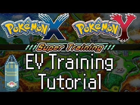 Pokemon X And Y - How To EV Train With Super Training!  Max Out Pokemon Stats Really Fast!