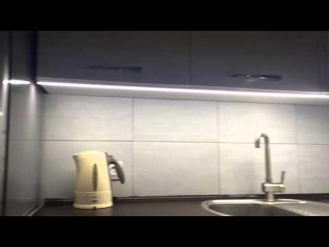 Подсветка на кухне. Led лента + сенсорный выключатель.