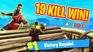 19 KILL SOLO WIN! (COLLATERAL DAMAGE)  - Fortnite Battle Royale Gameplay