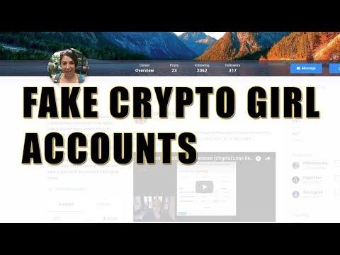 Fake Crypto Girl Accounts on social media
